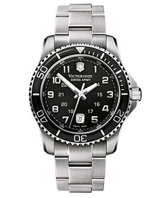 Victorinox Swiss Army Watch, Mens Maverick GS Stainless Steel Bracelet 241436 - Victorinox Swiss Army - Jewelry  Watches - Macys