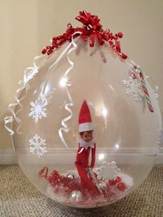 The Elf In A Bubble | 43 Awesome Elf On The Shelf Ideas To Steal This Christmas
