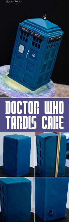 for all the doctor who lovers out there, a simple tutorial for this fondant covered tardis cake