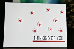 Card with mini hearts