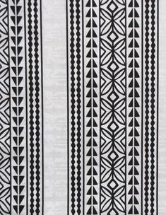 "Hawaiian Tapa Quilt Patterns Leaf Geometric Triangle Panels Black White, DIY Craft Sewing Fabric 45""W By the Yard - HPC9424 by gBagHawaii on Etsy"