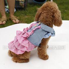 dog plaid dress