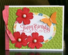 Stampin' Up! Birthday Card by Krystal's Cards and More: Flower Shoppe