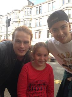New Pictures of Sam Heughan with fans | Outlander Online