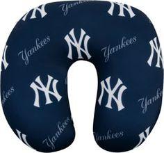 New York Yankees Travel Neck Pillow $19.99 http://www.fansedge.com/New-York-Yankees-Travel-Neck-Pillow-_-122066008_PD.html?social=pinterest_pfid23-63489