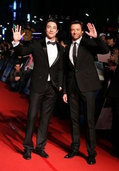 Daniel Henney and Hugh Jackman.. both seem like genuine great guys, plus rather good actors and easy on the eye:)