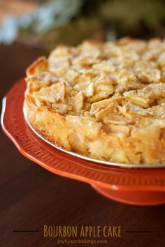 This Bourbon Apple Cake tastes like apple pie without the pastry crust.- joyfulscribblings.com