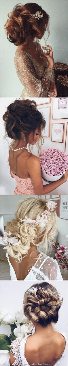 Ulyana Aster Long Wedding Hairstyles & Updos / http://www.deerpearlflowers.com/romantic-bridal-wedding-hairstyles/