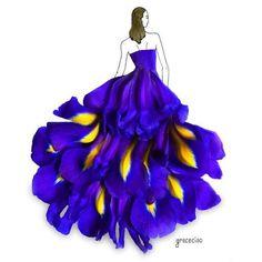 Imagem de art, dress, and flowers