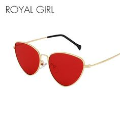 3da93a100a5 ROYAL GIRL Cat Eye Sunglasses Women Summer Styles Retro Sun Glasses Fashion  Red Lens UV400 Eyewear