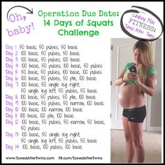 Oh, baby! Earlier today on Facebook, I mentioned that I have been doing an extra 300 squats every night (see post here) and I asked some of you to do them with me! As always, you guys arose to the …