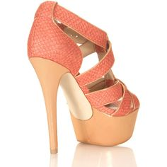 Hysteria Coral Platform Heel - a muted variation on the coral/orange spring trend