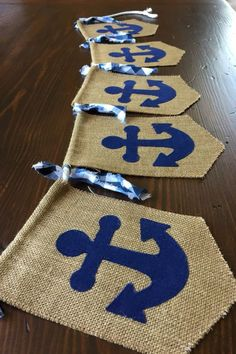 Nautical Theme - Banner, Baby Boy, Ships & Sails