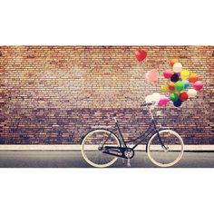 Mural personalizable Bicicleta y globos para decorar las paredes de tu hogar o tienda.