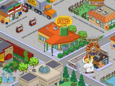 jet market - grocery store - krusty burger - museo - first church Springfield Simpsons, Springfield Tapped Out, The Simpsons Game, Galaxy Wallpaper, Movies Showing, Grocery Store, Animation, Stickers, The Originals