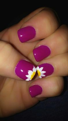 Spring nail art--love this colour!
