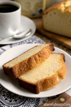 Condensed Milk Pound Cake - A lightly sweet and super moist cake that is perfect for breakfast or dessert!