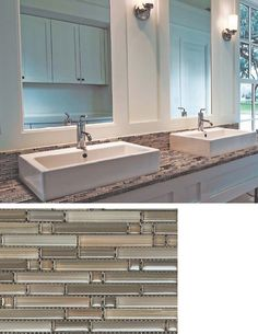 "Introducing our Exclusive Collection, Handicraft II Linear!... From our ""Urth Glass Mosaic"" Line"