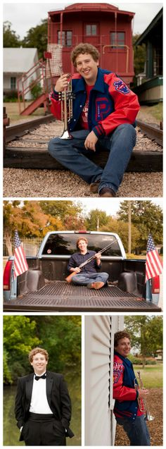 Country, trucks, senior pictures, band, trumpet, guns, mandolin, Texas