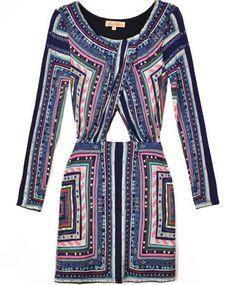 Mara Hoffman Magic Carpet Keyhole Ruched Dress