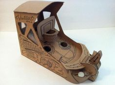 A very original cardboard project with templates and tutorial created by designer Damien Valient and originally posted at Instructables we...