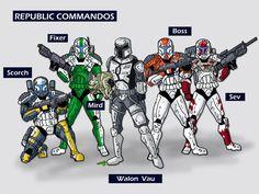 republic commando omega squad | Delta Squad and Vau by ~KickAwesome on deviantART