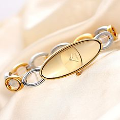 Damen Armband-Uhr Japanischer Quartz Wasserdicht Legierung Band Bequem Gold…