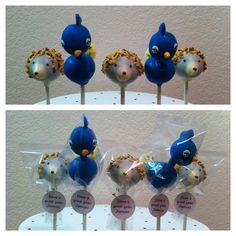 Merica your two favorites :-) Hedgehog & Peacock Cake Pops