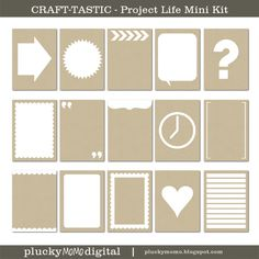 Lots of neutral Project Life card sets by plucky momo: NEW Project Life cards & a SALE! Buy 3 get 1 Free.