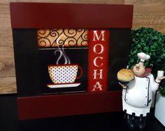 Mod7. Quadro Decorativo Café Mocha