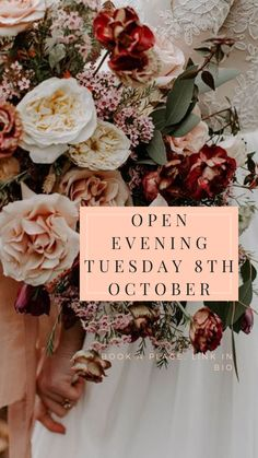 Visit Crockwell at our Open Evening this October for Autumn wedding inspiration. Have a guided tour of our beautiful rustic wedding venue and gardens and meet some wonderful wedding suppliers. Civil Wedding, Farm Wedding, Rustic Wedding Venues, Day Book, Autumn Wedding, Floral Wreath, October, Wedding Inspiration, Gardens