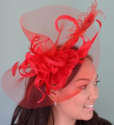 Red fire BY THE SEA * CINDY BLAKE #HatAcademy #Millinery #hats