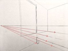How to draw in perspective. What is linear perspective with one, two or three vanishing points and how to add figures when drawing. Atmospheric perspective and its influence on landscape painting. Pencil Drawings For Beginners, Realistic Drawings, Art Drawings Sketches, Perspective Drawing Lessons, Perspective Art, Basic Drawing, Drawing Tips, Painting Lessons, Art Lessons