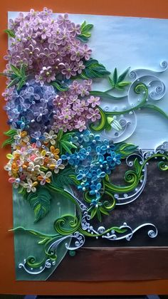 Quilled Lilacs - by: Chienhuu Tran