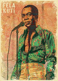 LOOOOVE!!  fela kuti by urban-myth, via Flickr