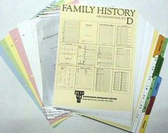 Family History Deluxe Organizational Kit D.  I am in desperate need of organizational tools to wrangle the piles that are beginning to grow as my research gets deeper.
