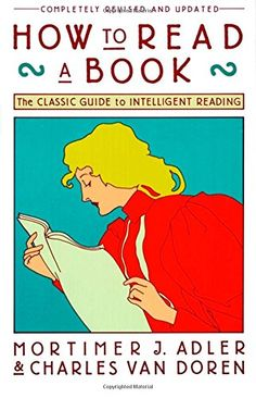 How to Read a Book: The Classic Guide to Intelligent Reading (A Touchstone book) by Mortimer J. Adler http://smile.amazon.com/dp/0671212095/ref=cm_sw_r_pi_dp_ACr5ub1QDE6DD