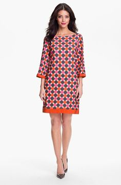 Eliza J Print Jersey Shift Dress   Nordstrom