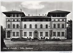 Italien - umbria-perugia-citta´ di castello villa montesca veduta frontale(gr.-b.n.-n.v.)