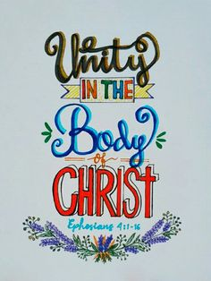 Ephesians 4:1-16 Trying to write typographical