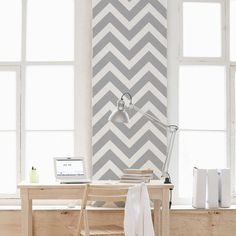 These easy to install Chevron removable wallpaper tiles are a fast way to decorate any room in your home. Order this zigzag stripe wallpaper from Wallums. Herringbone Wallpaper, Chevron Wallpaper, Tile Wallpaper, Embossed Wallpaper, Wallpaper Panels, Tile Bedroom, Bathroom, Color Tile