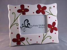 Ruby Flowers Frame by chutneyblakedesigns on Etsy, $29.50
