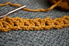 Learn to crochet a super-bulky infinity scarf using the V-Stitch