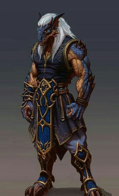 Half-Dragon Monk - Pathfinder PFRPG DND D&D d20 fantasy