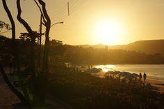 Por do sol  Praia de Bombinhas - Viagem com Sabor  DSC01935