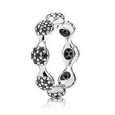 Pandora Black Pavé Ring from Ben Bridge Jeweler http://www.benbridge.com/shop/Pandora-Black-Pave-Ring.html
