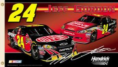 Jeff Gordon JEFF NATION Giant 3'x5' NASCAR Flag (2012) - #24 Hendrick Motorsports DuPont Chevy Impala - available at www.sportsposterwarehouse.com