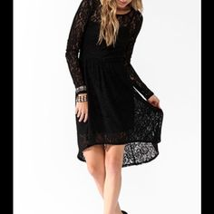 New S lace low high dress New with tag condition. Size small. Lace. Low high hem. Lined Dresses High Low