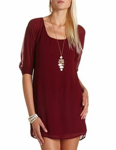 A simple, elegant deep red that would look beautiful on Christmas eve. #lulus #holidaywear