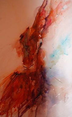 """The Magic of Watercolour Painting Virtual Gallery - Jean Haines, Artist - Hares, Title: """"Hare Today, Gone Tomorrow"""""""